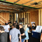 Naikoon Contracting Open house, signage CLT construction and passive house in Vancouver