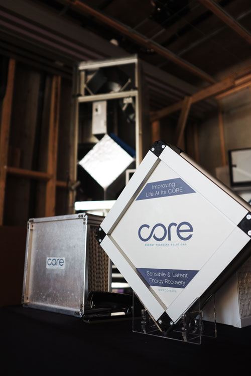Signage core energy recovery solutions